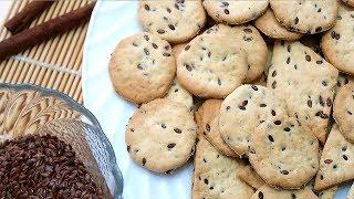 Печенье крекер с семенами льна Легкое и полезное