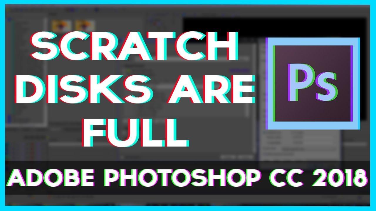 photoshop 7 scratch disk full