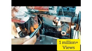 how to put 3 threads in interlock/overlock machine