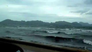 Schlechtes Wetter und Sturm auf Mallorca