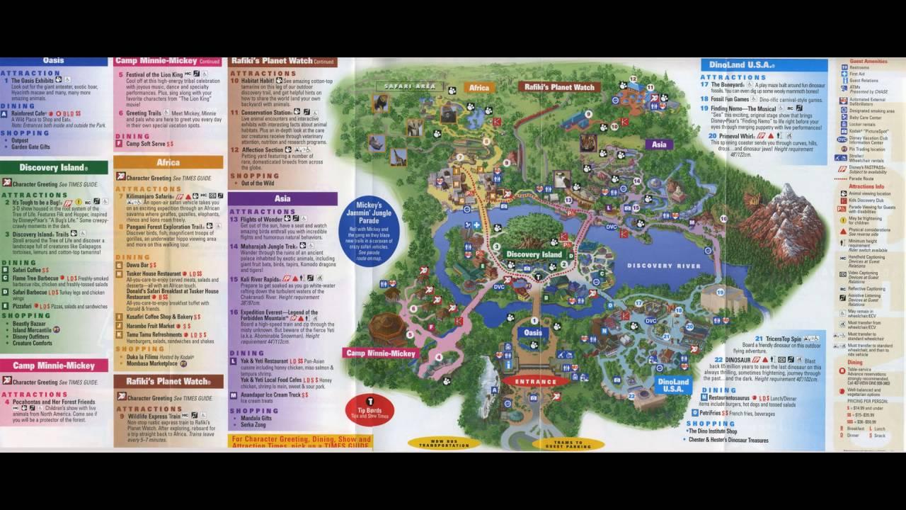 Wonderful Disneyu0027s Animal Kingdom Interactive Map
