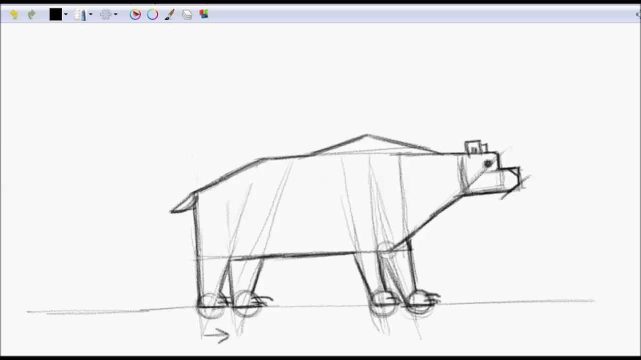 Cmo dibujar un oso con figuras geomtricas  YouTube