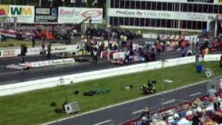top fuel dragster race schumacher vs brown