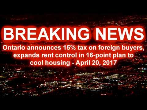 Ontario Announces 15%  Foreign Buyers Tax To Cool GTA Housing Market -  YouTube
