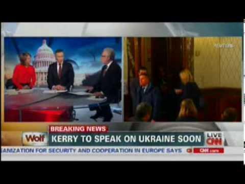 President Obama & Secretary of State John Kerry Speak on Ukraine 3/6/2014 - CNN Coverage