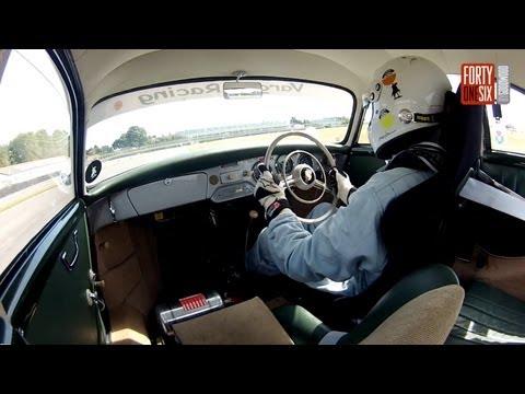 Two laps of Goodwood in Jim Clark's Porsche 356