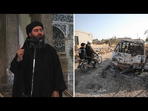 Aftermath of raid on Isil leader Abu Bakr al-Baghdadi
