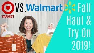 Target vs  Walmart Fall Haul & Try On Over 40 2019!