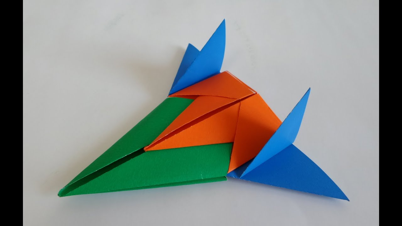 3� ���� ����� ���� ������� how to make a paper spaceship origami
