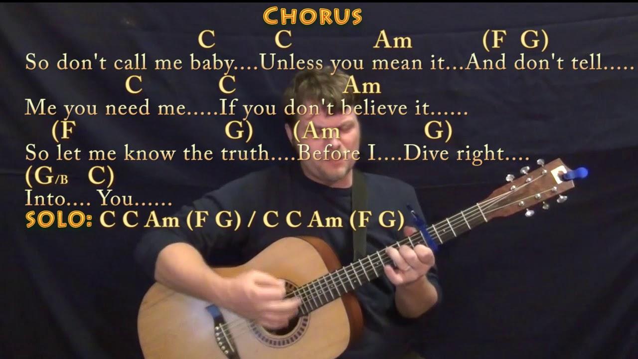 Dive Ed Sheeran Strum Guitar Cover Lesson With Chordslyrics