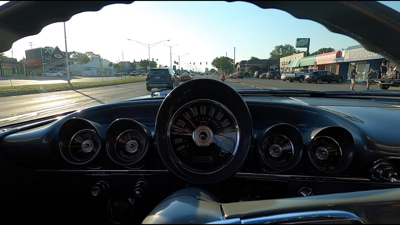 Ride on Woodward in the 1959 Chevrolet Bel Air with a 348