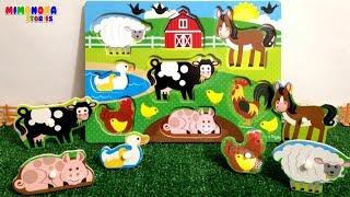 Animales dela Granja 🐮🐷  Nombres y Sonidos - Juegos para niños - Mimonona Stories