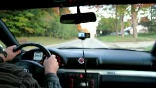 Audi S4 60-0 mph Braking Test  (108 feet) - ECS Stage IV 6-Piston Brembo Brake Kit EBC Red Pads...
