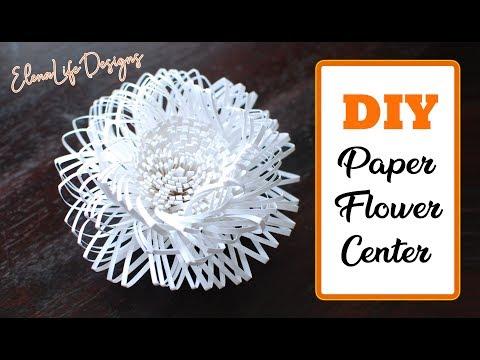 DIY Paper Flower Center Tutorial - How to make paper flower center  - Flower Center