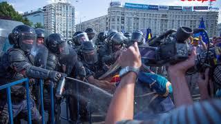 Protestul Diasporei - Momentul în care jandarmii au aruncat cu gaze lacrimogene