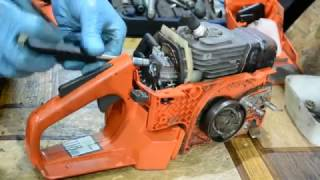 Замена топливного шланга на бензопиле Husqvarna 136