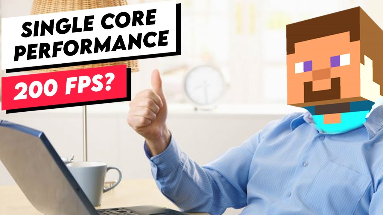 Playing Minecraft on a Single CPU Core (One Core Performance Benchmark)