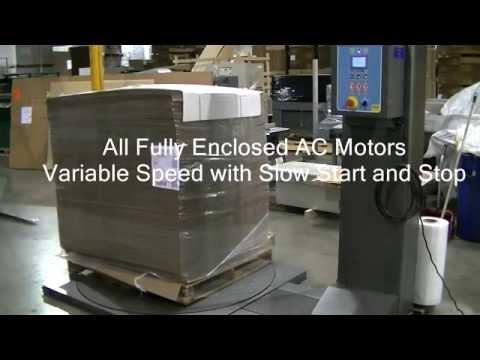 Cousins Packaging LP 2100 SRT semi-automatic stretch wrapper