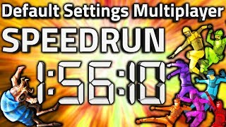 """Factorio """"Default Settings Multiplayer"""" Speedrun in 1:56:10 by TeamSteelaxe [0.16 World Record]"""