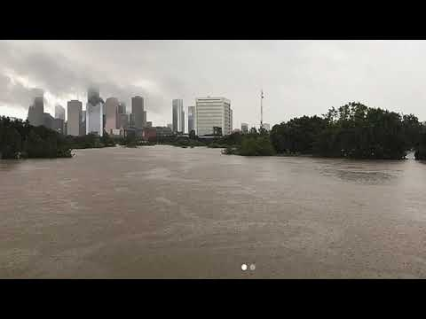 Before & After: Flooding on Buffalo Bayou in Houston