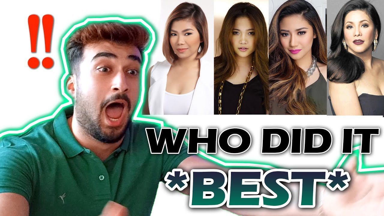 All By Myself Climax | Who Did it Best? | Filipino Singers | REACTION |