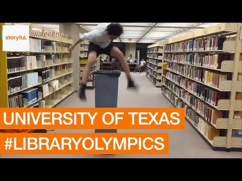 University of Texas Students Take Part in #LibraryOlympics