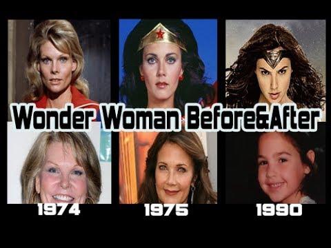 Wonder Woman actor Before & After Gal Gadot, Linda Carter,  Cathy Lee Crosby