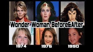 Wonder Woman actor Before & After Gal Gadot, Linda Carter,  Cathy Lee Crosby