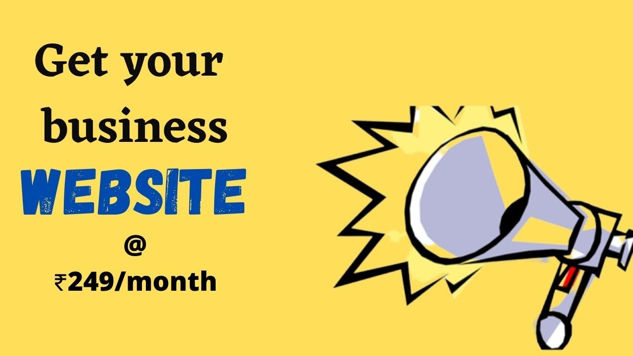Get your Website @249/month | Free Domain & Hosting
