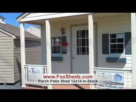 In Stock Porch Patio Shed from Fox's Country Sheds