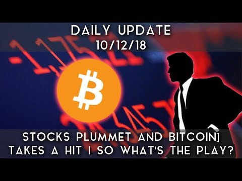 Daily Update (10/12/18) | Stocks Plummet & Bitcoin Take A Hit; So What's The Play?