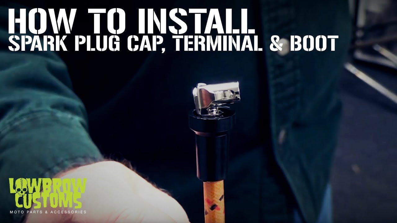 hight resolution of diy tech tip motorcycle spark plug cap terminal boot install from lowbrow customs