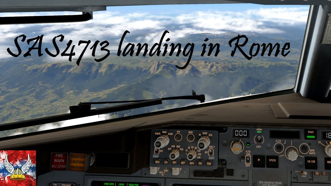 | XP11 | SAS4713 landing Rome/Fiumicino | 60FPS! by NORSHUTTLE