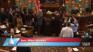 Sen. Mike Shirkey takes oath of office