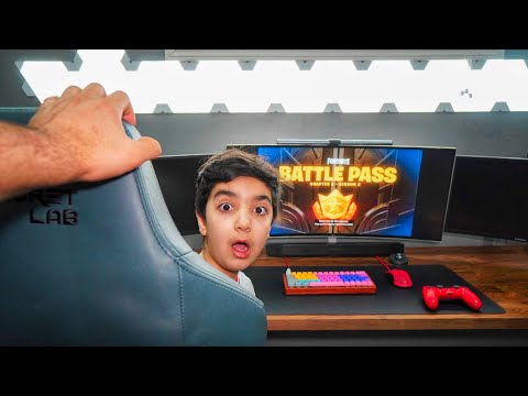 Catching My Little Brother Skipping School To Play Fortnite Chapter 2 Season 2 (KID SKIPS SCHOOL!)