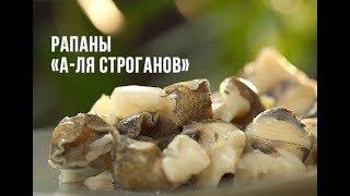 """Рецепт: Рапаны «а-ля Строганов». Шеф-повар Сергей Байсаревич. Ресторан """"Barvy"""""""