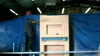 Cre8te Stone Fireplace Construction For Movie.mpg