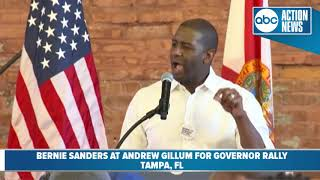 Andrew Gillum speaks at his rally for governor