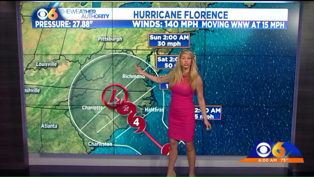 Hurricane Florence's projected path has changed, what to expect