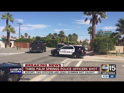 3 officers shot in Palm Springs, conditions unknown