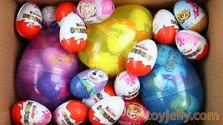 Learn Colors New Big Kinder Surprise Eggs Kinder Joy Boys & Girls Unboxing Toys Rhymes Kids Songs