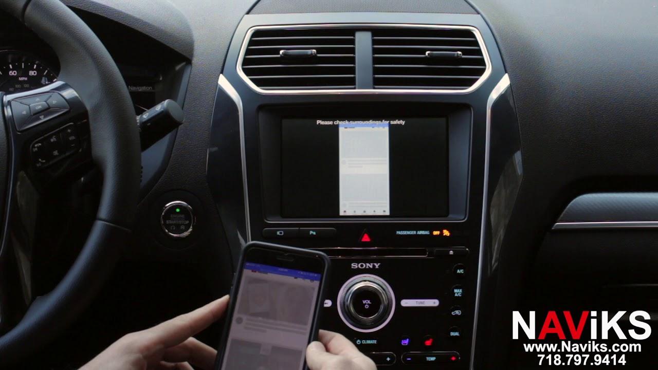 2018 Ford Explorer SYNC 3 NAViKS Video Interface Add Smartphone Mirroring +  Apple TV 4