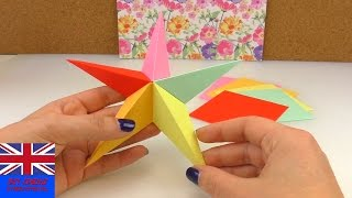 Origami Star 5 elements Tutorial: How to make an five-pointed Origami Star