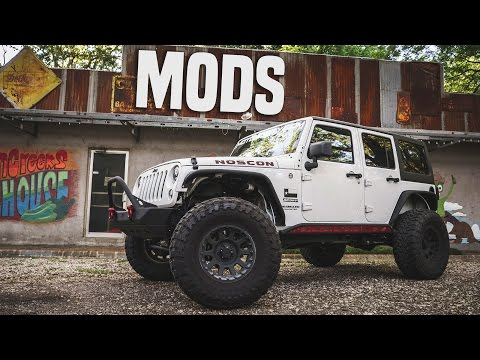 Jeep Wrangler Unlimited MODS! - Lift Kit, Armor, & More