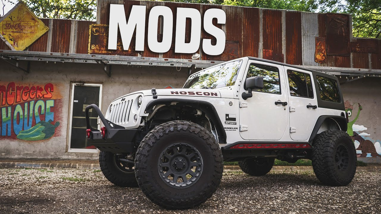 Jeep Wrangler Unlimited MODS Lift Kit Armor & More