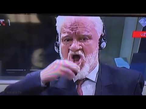 Slobodan Praljak popio otrov tijekom suđenja [FULL VIDEO]