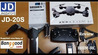 JDRC JD-20S JD20S WiFi FPV Foldable Drone review -  Unboxing, Inspection & Setup (Part I)