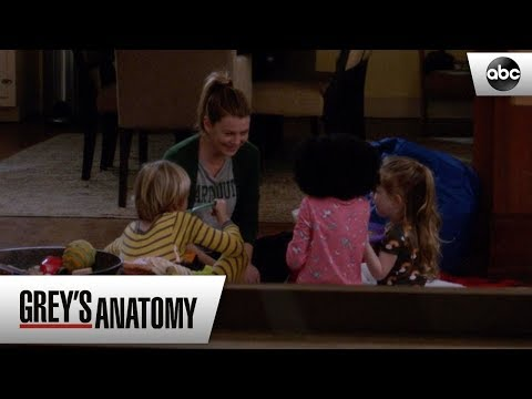 Meredith Tells Her Kids About Deluca - Grey's Anatomy Season 15 Episode 22