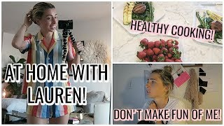 DAILY VLOG! ADULTING, XLE SNEAK PEEK, HEALTHY FOOD! | LAUREN EIZABETH
