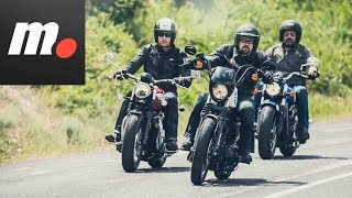 Comparativo Custom 1200 | H-D Iron, Indian Scout, Triumph Speedmaster/ Prueba / Review en español
